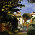 House and Figure among the Trees, Pierre-Auguste Renoir