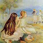 Young Girls by the Sea - 1894, Pierre-Auguste Renoir