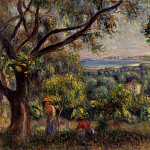 Пьер Огюст Ренуар - Cagnes Landscape (also known as View of Collettes) - 1895