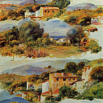 Houses at Cagnes - 1905, Pierre-Auguste Renoir