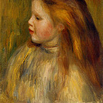 Pierre-Auguste Renoir - Head of a Little Girl in Profile - 1901