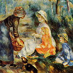 The Apple Seller - 1890, Pierre-Auguste Renoir
