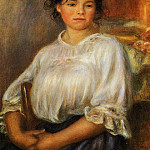 Пьер Огюст Ренуар - Young Woman Seated - 1909