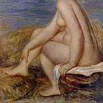 Seated Bather - 1882, Pierre-Auguste Renoir