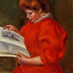 Young Woman Looking at a Print – 1896, Pierre-Auguste Renoir