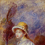 Woman with a Basket of Flowers - 1890, Pierre-Auguste Renoir