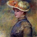 Young Woman Wearing a Hat, Pierre-Auguste Renoir
