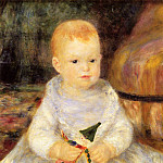 Pierre-Auguste Renoir - Child with Punch Doll (also known as Pierre de la Pommeraye) - 1874 - 1875