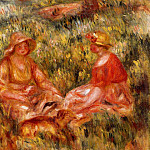 Two Women in the Grass - 1910, Pierre-Auguste Renoir