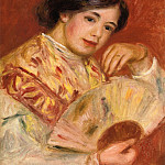 Пьер Огюст Ренуар - Woman with a Fan - 1906
