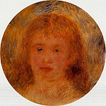 Pierre-Auguste Renoir - Womans Head (also known as Jeanne Samary) - 1877