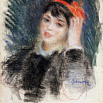 Head of a Young Woman - 1878 -1880, Pierre-Auguste Renoir