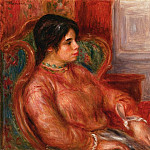 Woman with Green Chair - 1900, Pierre-Auguste Renoir