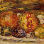 Still Life – Pomegranate, Figs and Apples – 1914 – 1915, Pierre-Auguste Renoir