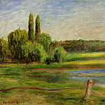 Landscape with Fence - 1910, Pierre-Auguste Renoir