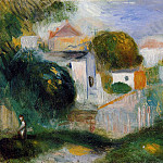Houses in the Trees, Pierre-Auguste Renoir