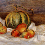 Still Life with Cantalope and Peaches - 1905, Pierre-Auguste Renoir