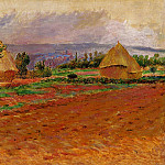 Field and Haystacks - 1885, Pierre-Auguste Renoir