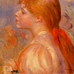 Girl with a Red Hair Ribbon - 1891, Pierre-Auguste Renoir