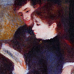 Pierre-Auguste Renoir - Reading Couple (also known as Edmond Renoir and Marguerite Legrand) - 1877