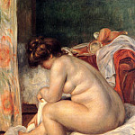 Woman After Bathing - 1896, Pierre-Auguste Renoir
