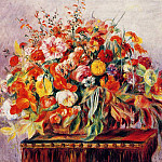 Basket of Flowers, Pierre-Auguste Renoir
