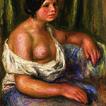 Woman in Blue, Pierre-Auguste Renoir