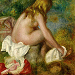 Bather, Seated Nude - 1895, Pierre-Auguste Renoir