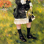 Пьер Огюст Ренуар - Girl with a Parasol (also known as Aline Nunes) - 1883