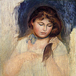 Head of Gabrielle - 1895, Pierre-Auguste Renoir