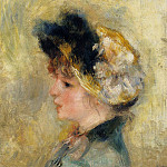 Pierre-Auguste Renoir - Head of a Young Girl - 1878