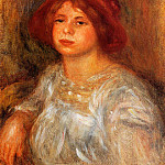 Young Girl Wearing a Red Hat - 1913, Pierre-Auguste Renoir
