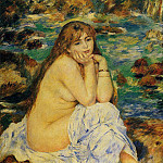 Seated Nude - 1885, Pierre-Auguste Renoir