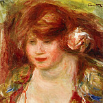 Woman Wearing a Rose - Andree - 1919, Pierre-Auguste Renoir
