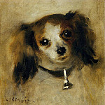 Head of a Dog - 1870, Pierre-Auguste Renoir