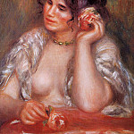 Gabrielle with a Rose - 1911, Pierre-Auguste Renoir