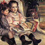 Portraits of Two Children - 1895, Pierre-Auguste Renoir