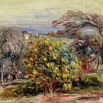 Landscape at Collettes, Pierre-Auguste Renoir