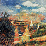 The Banks of the Seine at Argenteuil - 1880, Pierre-Auguste Renoir