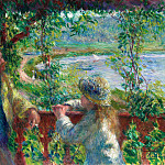 Near the Lake - 1879, Pierre-Auguste Renoir