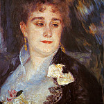 First Portrait of Madame Georges Charpeitier – 1876 – 1877, Pierre-Auguste Renoir