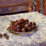 Still Life, a Plate of Plums – 1884, Pierre-Auguste Renoir