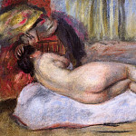 Sleeping Nude with Hat , Pierre-Auguste Renoir