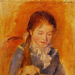Girl with a Dog - 1875, Pierre-Auguste Renoir