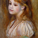 Little Girl with a Red Hair Knot - 1890, Pierre-Auguste Renoir