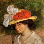 Пьер Огюст Ренуар - Woman in a Flowered Hat - 1899
