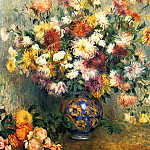 Пьер Огюст Ренуар - Vase of Chrysanthemums - 1880 - 1882