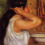 La Toilette – Woman Combing Her Hair – 1907 -1908, Пьер Огюст Ренуар