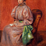 Seated Woman - 1895, Pierre-Auguste Renoir