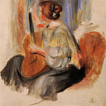 Woman with Guitar, Pierre-Auguste Renoir